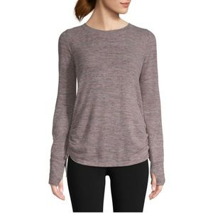 NWT St. John's Bay Active Side Shirred/Tie Top